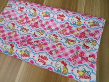 100*145cm patchwork thin Canvas fabric Japan cartoon Hello Kitty cotton fabric for Tissue Kids bag shoe DIY handmade materials(China)