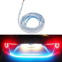 VODOOL Car Style RGB LED Lighting Trunk Rear Tail Lights Vehicle Rear Back Turn Signal Lamp Tail Warning Stop Atmosphere Light(China)