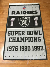 NFL Oakland Raiders Super Bowl Champions Flag 3ft x 5ft Polyester NFL Banner Flying Size No.4 144* 96cm(China)