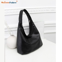 New Fashion Women Handbag Leather Shoulder Bag Cowhide Ladies Black Brown Casual Shopping Bag Large Capacity Tote Bolsos