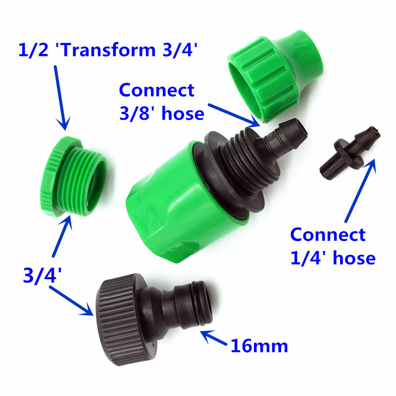 HTB1 joZJVXXXXXJXXXXq6xXFXXXW - 1 Sets Fog Nozzles irrigation system - Automatic Watering 10m Garden hose Spray head with 4/7mm tee and connector