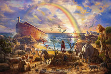 Thomas Kinkade Oil Paintings Rainbow Seascape Giclee Canvas Paintings Spray Home Decorations And Posters(China)