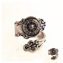 Drop shipping Ship Wheel Spoon Ring Silver Nautical Ships Rings Steam punk Finger or Thumb ring
