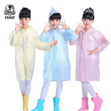 FGHGF Transparent Dots Poncho Kids Rain Coat Waterproof Student Rainsuit Children Raincoat Single Person Rainwear Rain Gear(China)
