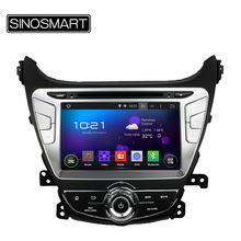 SINOSMART Updated 1.6GHz Quad Core Android 5.1 Car DVD GPS Navigation for Hyundai Elantra 2014 2015 HD Screen Canbus Optional
