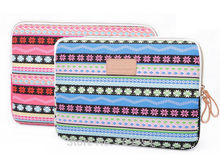 "Canvas Laptop Sleeve 10""12""13""14""15"" Bohemian Shape Computer Cover Pouch Notebook Case Bag For Acer HP Macbook"