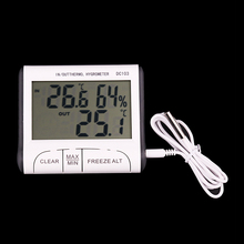 digital thermometer hygrometer thermohygrometer humidity monitor hygro thermometer mini digital DC103 with sensor wire