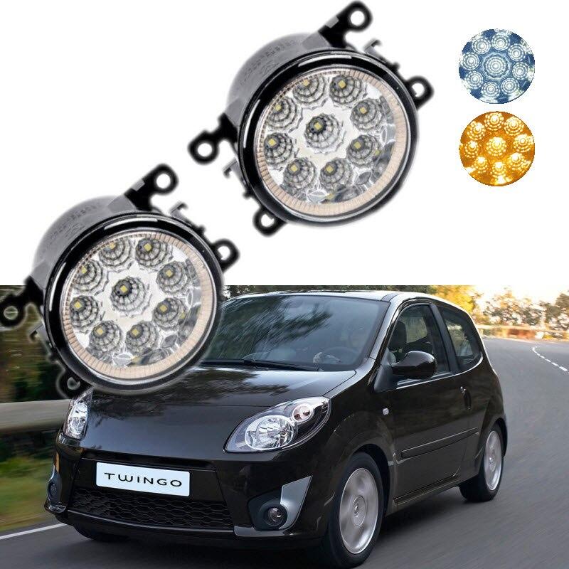 For Renault Twingo CN0 2007-2014 9-Pieces Leds Chips LED Fog Light Lamp H11 H8 12V 55W Halogen Fog Lights<br>