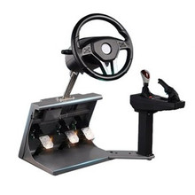 Game steering wheel learning car driving training machine, car driving simulator intelligent mold simulation car USB connection(China)