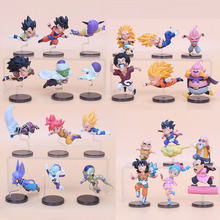 6pcs/set anime Dragon Ball Z 12cm The Historical Characters dragonball PVC Action Figure Toys Model Collect Figurines Doll(China)