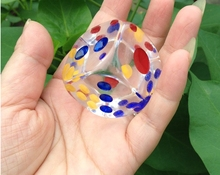 [TOPDICE] New Clear dice 28MM 33mm each side big size dice acrylic transparent dice toy can custom 50 60 70 SENT 1PCS
