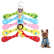 Wooden Pet Dog Child Clothes Hanger Cartoon Design Wardrobe Storage Resin Animal Cute Hangers(China)