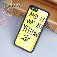 MaiYaCa Coldplay And It Was All Yellow Soft Rubber cell phone Case Cover For iPhone 6 Plus and 6S Plus phone cover shell(China)