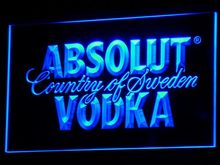 a025 Absolut Vodka Country of Sweden Beer LED Neon Bar Sign(China)