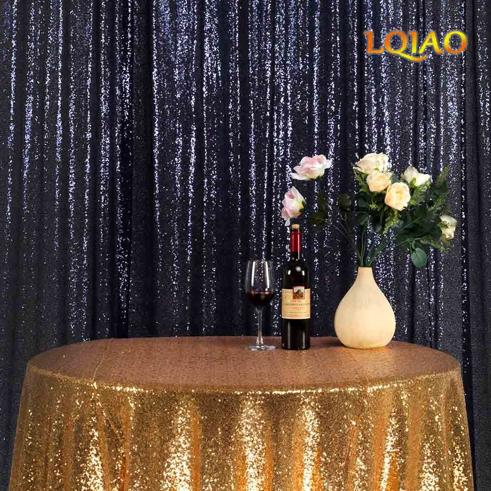 Dark Blue Sequin Backdrop-004