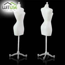 Cheap Sale For barbie dress form clothing clothes gown display mannequin model stand black and white color for your choice(China)