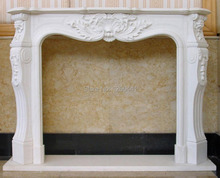 carved stone fireplace mantel concise European style marble furniture custom made(China)