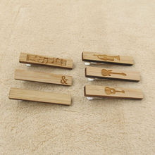 Wooden Ties Clips Blank For Men Classic Necktie Tie Bar Clasp Clip Music Guitar Style Wedding Accessory