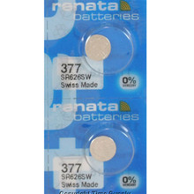 2Pcs/Lot RETAIL Brand New Renata LONG LASTING 377 SR626SW SR626 V377 AG4 Watch Battery Button Coin Cell Swiss Made 100%Original(China)