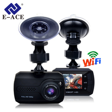 E-ACE Car Dashcam 1.5 Inch Mini Dvr With Wifi HD 1080P Auto Video Recorder 140 Degree Angle Hidden Dvrs Dash Camera Registrator