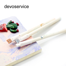 2Pcs/Lot Cute Cat Gel Pen Kawaii Stationery Roller Ball Pens Canetas Escolar Papelaria Gift Office Material School Supplies(China)