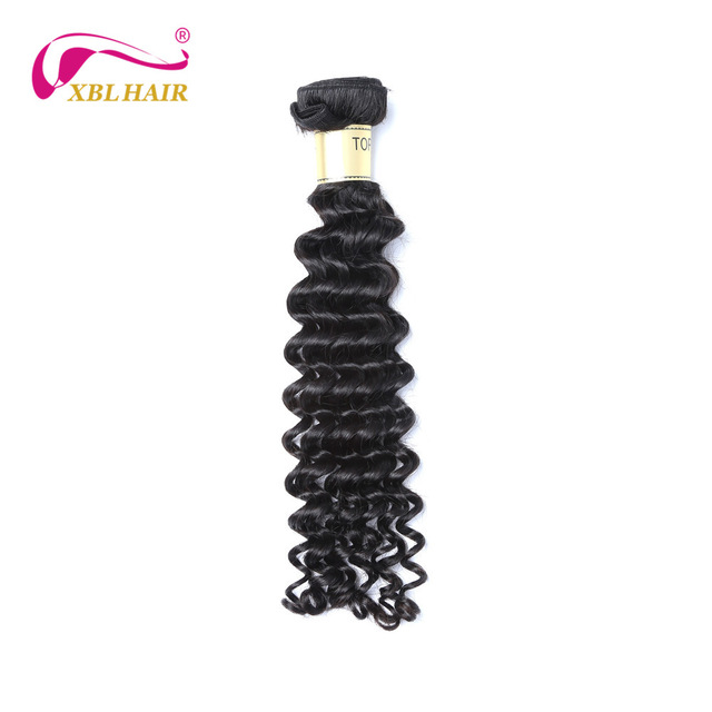 XBL HAIR Deep Wave Unprocessed Peruvian Virgin Hair Bundles Human Hair Weaves Natural Color 1 PC 8-30″ Free Shipping Can Be Dyed