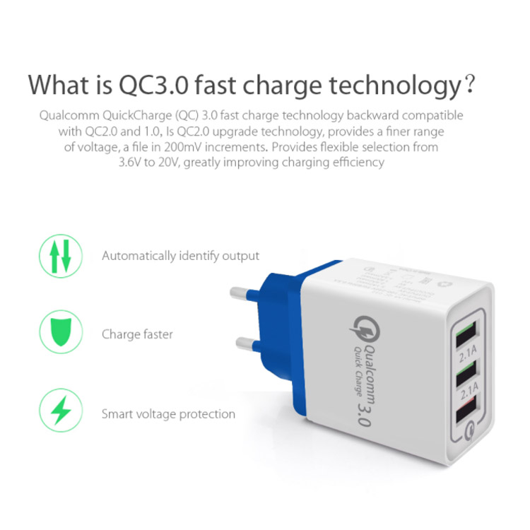 TOENMAN QC3.0 USB Adapter Portable Quick Charger Fast PD Wall Mobile Charger Station Power For iPhone Plug QC3.0 USB For Xiaomi