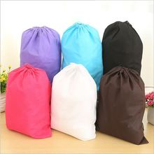 Hot Sale!!!Thick Non-Woven Laundry Shoe Bag Travel Pouch Storage Portable Tote Drawstring Storage Bag Organizer Covers A006