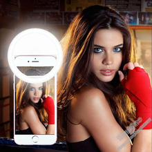 Universal Mobile Phone Selfie Light Night Selfie Ring Light Up LED Lamps For Selfie Enhancing Photography for iPhone 7 Samsung(China)