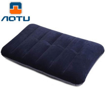 AOTU Car Travel Air Cushion Rest Pillow Blue Inflatable Bed Outdoor Camping Pillows  Comfortable Blue Mattress