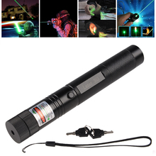 1pcs Burn Match Professional Powerful 500MW Focusable burning Green Laser Flashlight Pointer Pen lazer pointer 10000m(China)