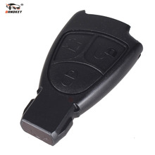 DANDKEY Car Remote Case Auto Key Shell Replacement for Mercedes Benz 3 Button Remote Key Cover