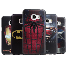 For Samsung Galaxy C7 Case C7000 5.7 3D Relief Batman Superman Soft TPU Case For Samsung Galaxy C5 back Cover C5000 phone case