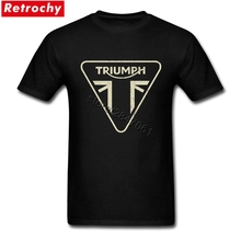 2017 Unique Tee New Logo Triumph T Shirt Vintage Men for Men 80S Vintage TShirt Short Sleeves Blue Round Neck T-Shirts