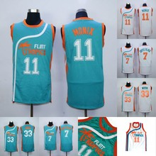 Monix #11 Flint Tropics Jersey #7 Coffee Black #33 Moon Semi Pro Movie Basketball Jerseys Stitched Throwback Jerseys Viva Villa