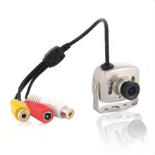 New Mini Wired Audio Mic CCTV Camera 700TVL Security Color 940nm Night Vision Infrared Video Cam COMS 3.6mm lens