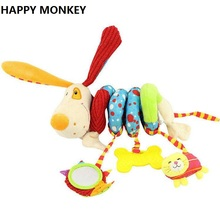 Buy Happy Monkey Newborn Soft Plush Toys Baby Crib Hanging Toys Stroller Playing Toy Car Lathe Hanging Baby Rattle Teether KF984 for $7.40 in AliExpress store