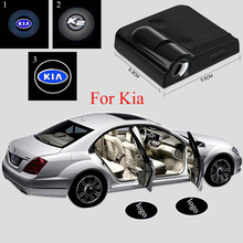 2pcs Wireless Car Projector Light Car Logo Door Light for Kia rio ceed sportage 2017 sportage 3 cerato sorento rio k2