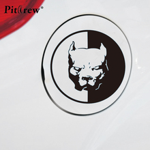 2018 1PC 13.7*13.7CM Pit Bull Ferocious Animal StickersCar Styling Anime Motorcycle Car Stickers And Decals Exterior Accessories(China)