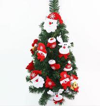 10pcs Xmas Tree Decoration Pendant Cloth Art Hanging Xmas Snowman Santa Clause Elk Fabric Cloth Toy Christmas Party Supplies