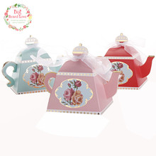 Big Heard Love 25pcs Creative Teapot Wedding Favors Box Flower Candy Box Chocolate Box Wedding Party Decoration Casamento(China)