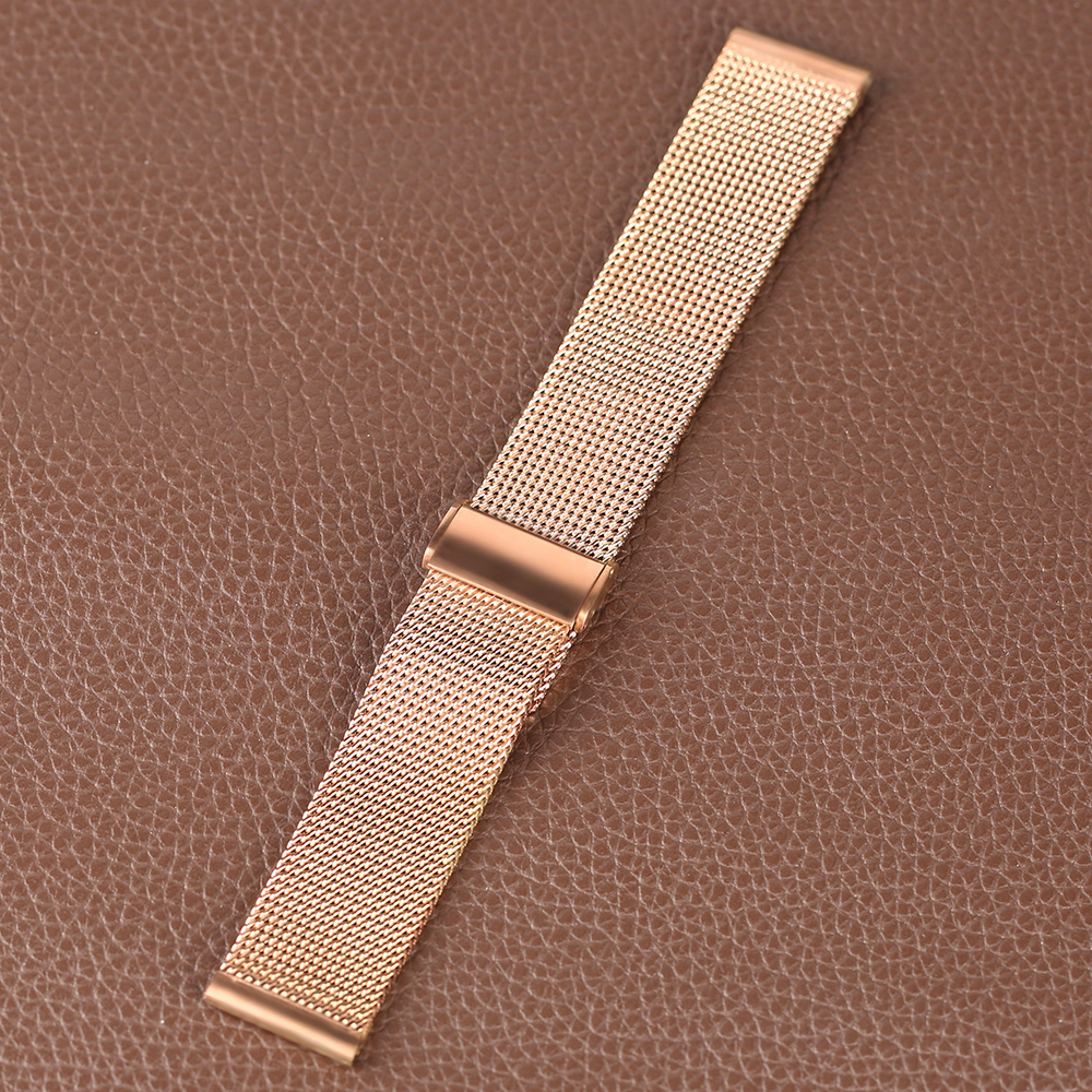Rose Golden Stainless Steel Watch Band 2018 New Arrival 182022mm Women Men Wrist Band for HuaWei (12)