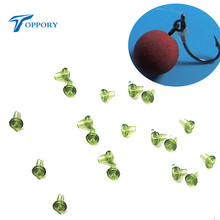 TOPPORY 50PCS Carp fishing hook stops hook stoppers beads quick change beads  hook softlures accessories for carp fishing