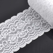 10cm width white Springy Lace Fabric Trim Ribbon Garment Accessories for wedding decoration 2 yard/lot DIY CP0344
