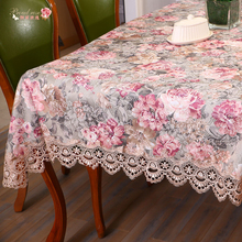 1 Piece Chinese Style Lace Embroidery Lace Table cloth/ European Style Classical Jacquard Table Cloth/ Rural Flowers Tablecloth