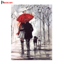 3D Couple umbrella Diamond Painting DIY Diamond Mosaic Kit Crystal Square Drill Embroidery Patterns Rhinestone Wall Art Painting