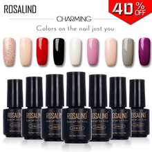 ROSALIND Primer Gel Nail Polish Black Bottle 7ML HOT SALE 29 COLORS Soak-Off UV LED Nail Art Nail gel varnishes(China)