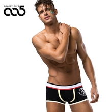 85 Brand Men Underwear Cotton Men's Sexy Boxers Underwear Gay Shorts calzoncillos hombre slips Drop Shipping Slip(China)