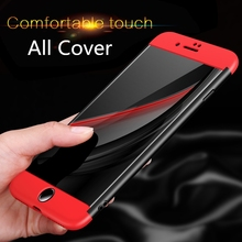 2018 Case for iphone 7 Case 5 6 6s 7 8 plus 360 all protection Cover For Apple iphone 5s 5C SE shell phone protective bag capa(China)