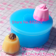 Free Shipping GYL025U Pudding Mold with Cream Flexible Silicone Mold 12mm - Baking Soap Polymer Clay Molds, Fimo Mold Food Safe